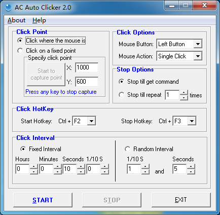 AC Auto Clicker full screenshot